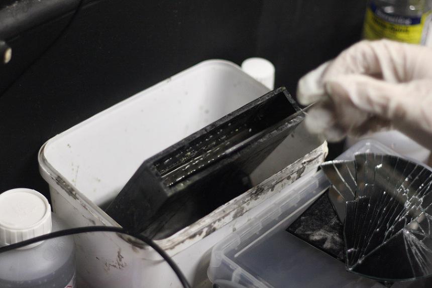 4x5 in a silver nitrate bath
