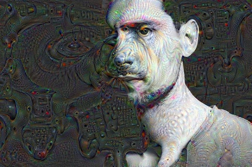 deep dream portrait
