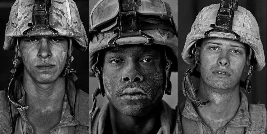 louis palu soldier portrait photography