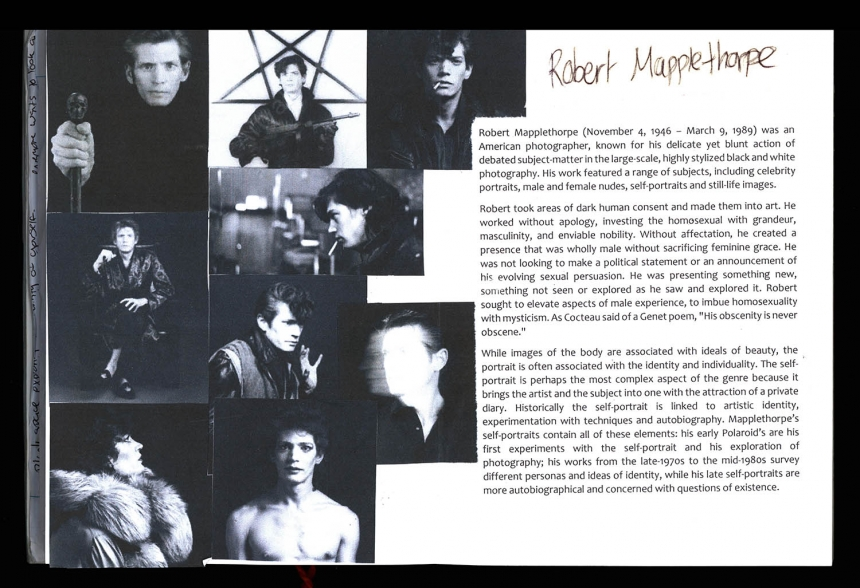 A level photography research Robert Mapplethorpe