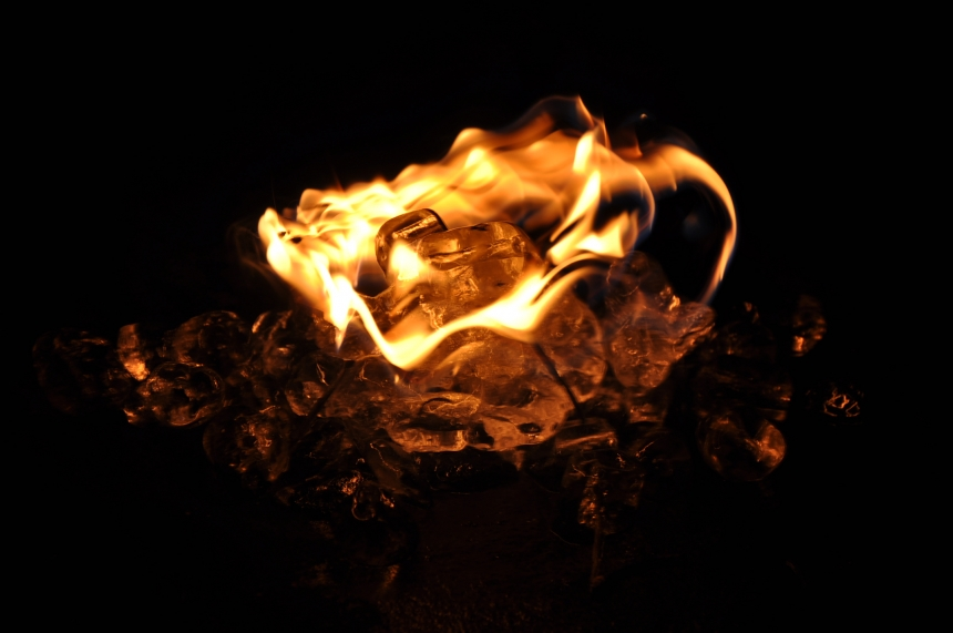 fire and ice environmental photography project
