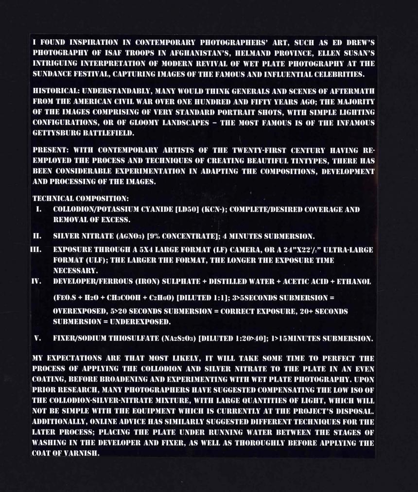 Tintype instructions