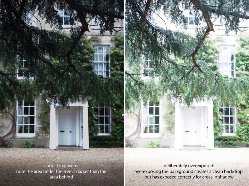 deliberate overexposure difficult lighting